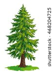 vector drawing of fir tree. eps8 | Shutterstock .eps vector #468204725