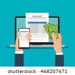smartphone laptop document... | Shutterstock .eps vector #468207671