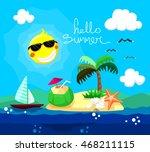 hello summer vector illustration | Shutterstock .eps vector #468211115