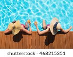 relaxed friends resting in the... | Shutterstock . vector #468215351