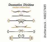 hand drawn dividers set.... | Shutterstock .eps vector #468217685