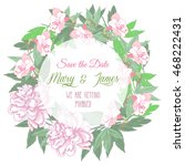 Wedding Wreath With Two Pink ...