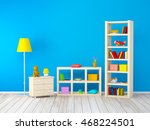kids room with bookcases with... | Shutterstock . vector #468224501