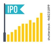 ipo concept with bar chart and...   Shutterstock .eps vector #468231899