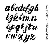 hand written brush alphabet.... | Shutterstock .eps vector #468234791