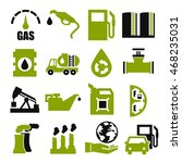 gasoline  gas  oil icon set | Shutterstock .eps vector #468235031