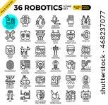 robotic technology outline... | Shutterstock .eps vector #468237077