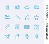 baby icons | Shutterstock .eps vector #468239411