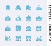 buildings icons | Shutterstock .eps vector #468251351