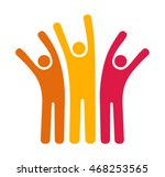 happy people icon. | Shutterstock .eps vector #468253565