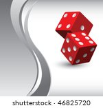 casino dice vertical silver... | Shutterstock .eps vector #46825720