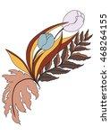 hand drawn tropical flower... | Shutterstock .eps vector #468264155