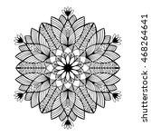 nice monochrome vector mandala. ... | Shutterstock .eps vector #468264641