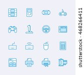 devices icons | Shutterstock .eps vector #468266411