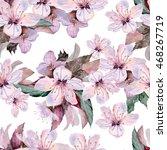flowers of apple. watercolor... | Shutterstock . vector #468267719