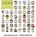 cartoon funny user avatars in... | Shutterstock . vector #468269621