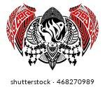 tribal style zodiac sign  ... | Shutterstock .eps vector #468270989