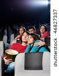 enamoured couple at cinema in...   Shutterstock . vector #46827337