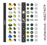 set of icons in different style ... | Shutterstock .eps vector #468274079