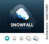 snowfall color icon  vector...