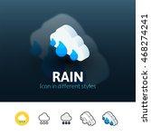 rain color icon  vector symbol...