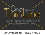 simple minimalistic modern font ... | Shutterstock .eps vector #468277571