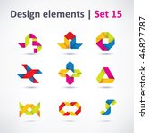 business design elements   icon ... | Shutterstock .eps vector #46827787