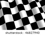 a 3d rendered chequered flag... | Shutterstock . vector #46827940