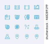 maps   travel icons | Shutterstock .eps vector #468289199