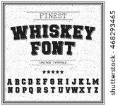vintage  retro font. stamped... | Shutterstock .eps vector #468293465