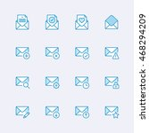 mail icons   Shutterstock .eps vector #468294209