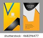 business card modern design  | Shutterstock .eps vector #468296477