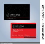 red and black modern business... | Shutterstock .eps vector #468297605
