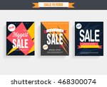 set sale poster with percent... | Shutterstock .eps vector #468300074