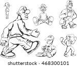 set of teenage redneck guys.... | Shutterstock .eps vector #468300101
