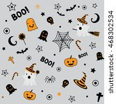 halloween symbol design element ... | Shutterstock .eps vector #468302534