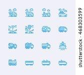 transport icons | Shutterstock .eps vector #468303599
