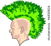 punk head profile | Shutterstock .eps vector #46830826