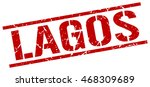 lagos stamp. red square lagos... | Shutterstock .eps vector #468309689