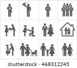 vector of life events icon set | Shutterstock .eps vector #468312245