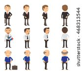 business man collection vector ... | Shutterstock .eps vector #468313544