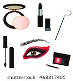 gothic vector make up details   ... | Shutterstock .eps vector #468317405