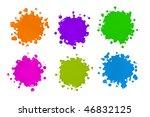 Various Color Paint Splatters...