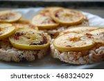 healthy food  rice crackers...   Shutterstock . vector #468324029