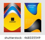 professional business card set... | Shutterstock .eps vector #468335549