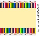 colorful pencil under yellow...   Shutterstock . vector #468348611