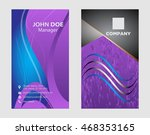 business card modern design  | Shutterstock .eps vector #468353165