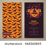 halloween two sides poster ... | Shutterstock .eps vector #468360845