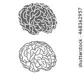 logotype of brain | Shutterstock .eps vector #468362957