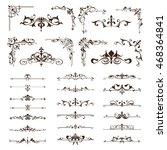 vector vintage design elements... | Shutterstock .eps vector #468364841